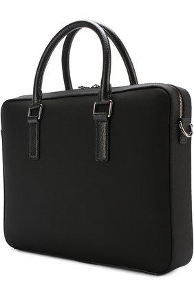 Сумка для ноутбука Mediterraneo с плечевым ремнем Dolce & Gabbana черная | Фото №3