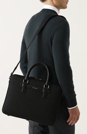 Сумка для ноутбука Mediterraneo с плечевым ремнем Dolce & Gabbana черная | Фото №5