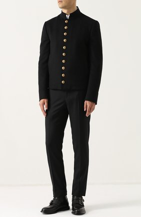 Кожаные ботинки Marsala с ремешками Dolce & Gabbana черные | Фото №2