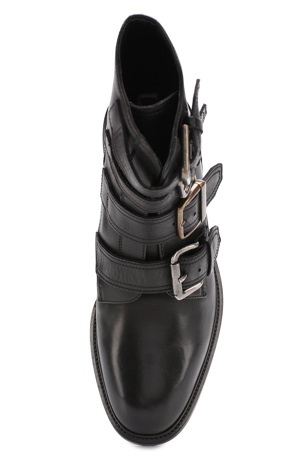 Кожаные ботинки Marsala с ремешками Dolce & Gabbana черные | Фото №5