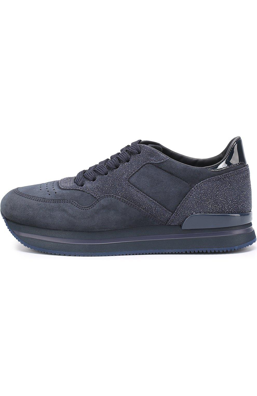 Замшевые кроссовки на шнуровке | Фото №3