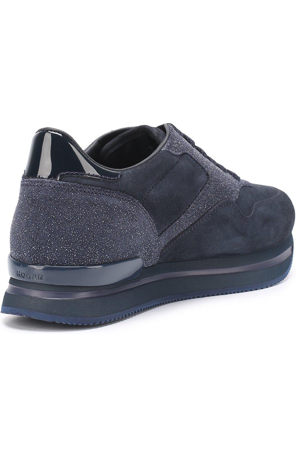 Замшевые кроссовки на шнуровке | Фото №4