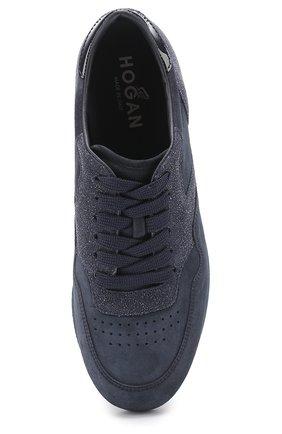 Замшевые кроссовки на шнуровке | Фото №5