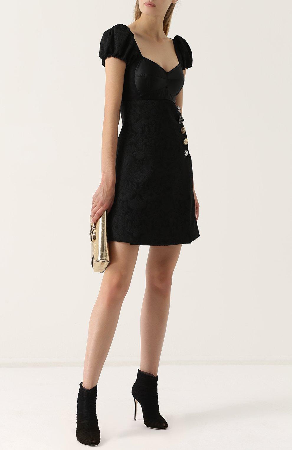 Полупрозрачные ботильоны на шпильке Dolce & Gabbana черные | Фото №2