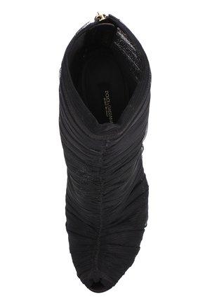 Полупрозрачные ботильоны на шпильке Dolce & Gabbana черные | Фото №5