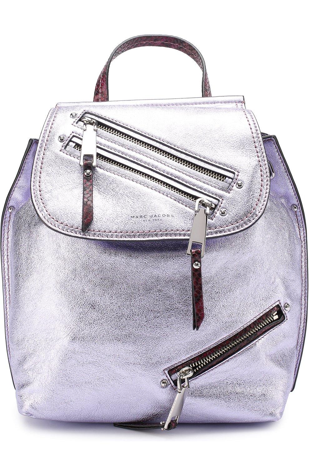 Рюкзак из металлизированной кожи   Фото №1