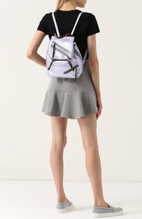 Рюкзак из металлизированной кожи   Фото №2