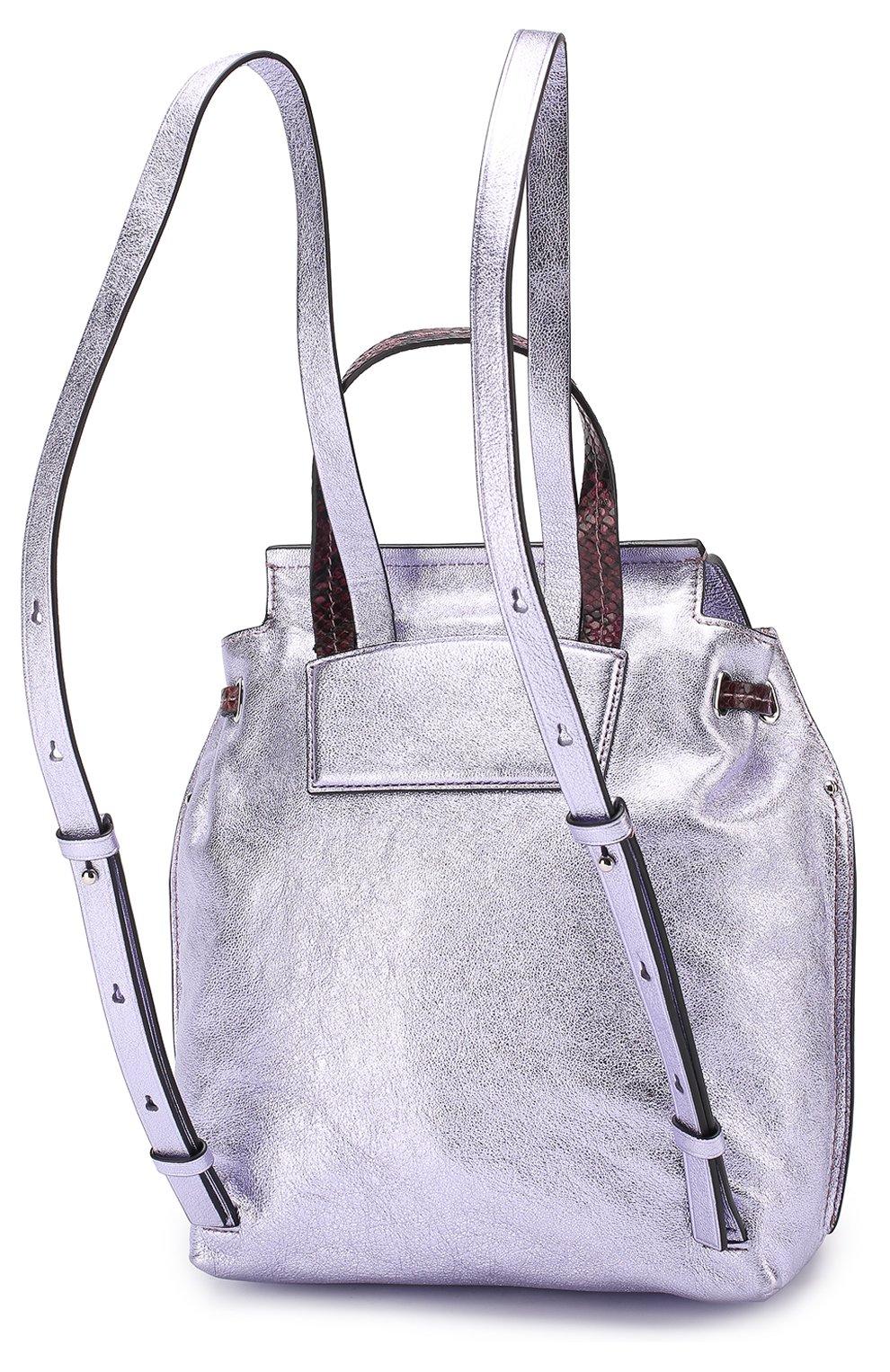 Рюкзак из металлизированной кожи   Фото №3