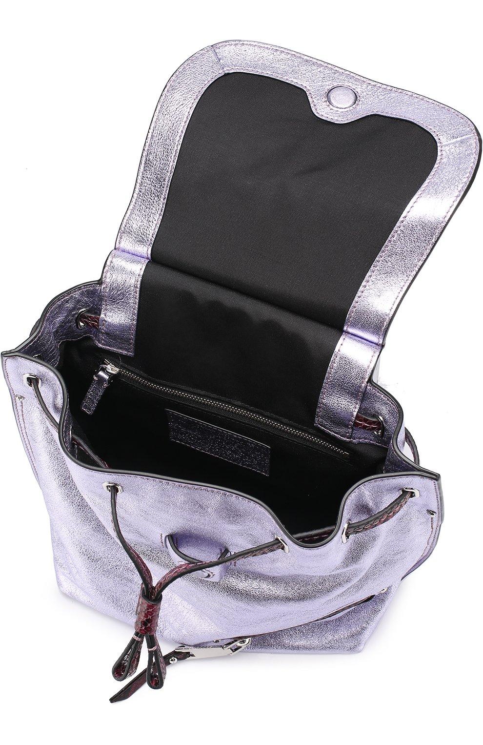Рюкзак из металлизированной кожи   Фото №4