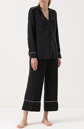 Шелковая пижама с укороченными брюками | Фото №1