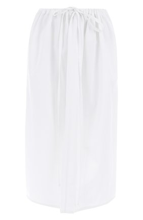 Хлопковая юбка-миди с эластичным поясом Atlantique Ascoli белая | Фото №1
