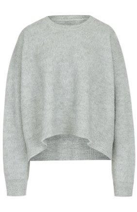 Пуловер свободного кроя с круглым вырезом Mm6 светло-серый   Фото №1
