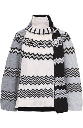 Шерстяной свитер свободного кроя Nude серый   Фото №1