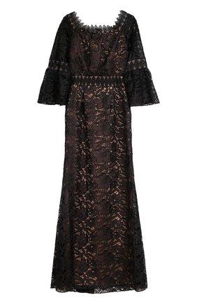 Приталенное кружевное платье-макси | Фото №1