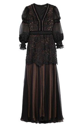 Приталенное платье-макси с V-образным вырезом | Фото №1
