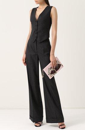 Жилет с контрастной спинкой Dolce & Gabbana серый | Фото №2