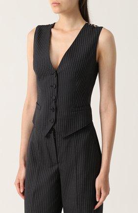 Жилет с контрастной спинкой Dolce & Gabbana серый | Фото №3
