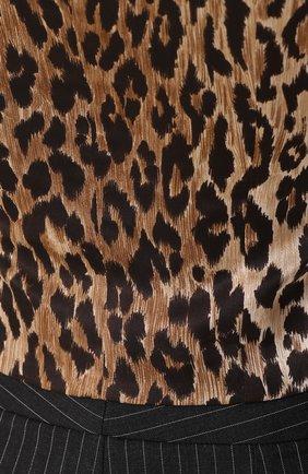 Жилет с контрастной спинкой Dolce & Gabbana серый | Фото №5