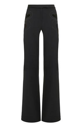 Расклешенные брюки с декоративной отделкой | Фото №1