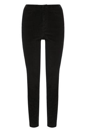 Вельветовые брюки-скинни Dolce & Gabbana черные | Фото №1