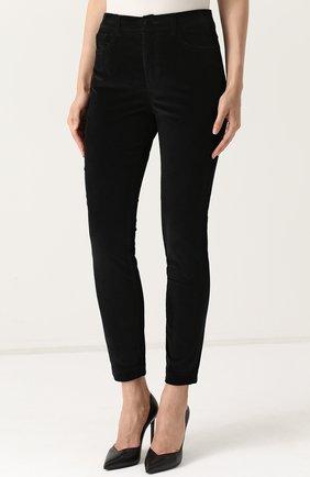 Вельветовые брюки-скинни Dolce & Gabbana черные | Фото №3