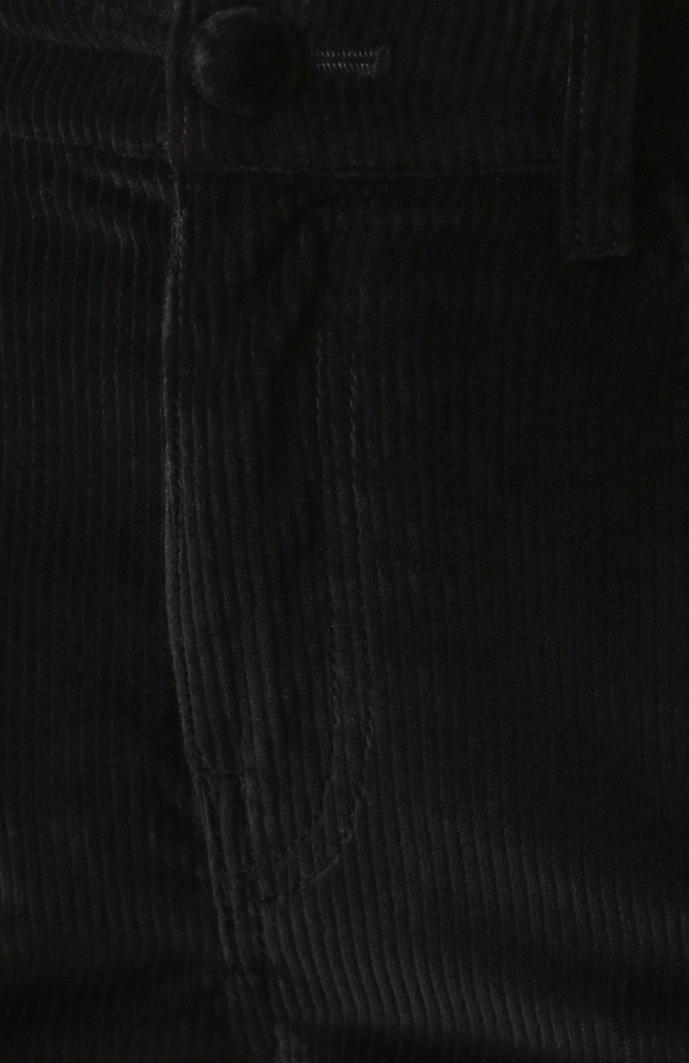 Вельветовые брюки-скинни Dolce & Gabbana черные | Фото №5