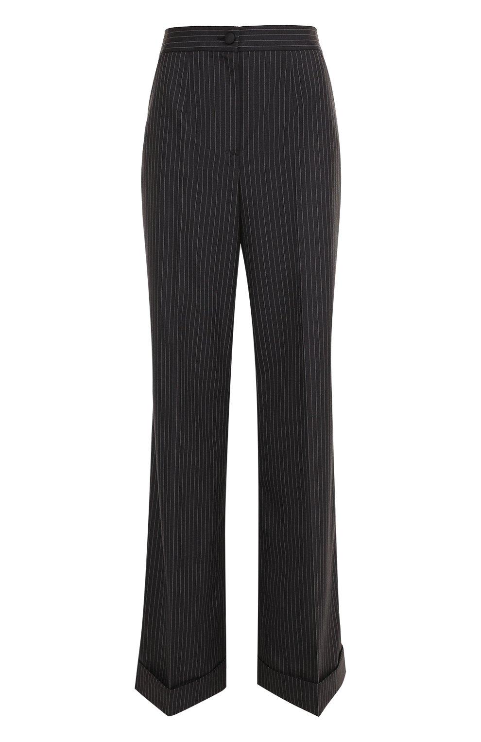 Расклешенные брюки со стрелками и карманами   Фото №1