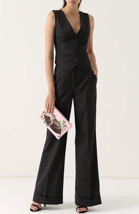 Расклешенные брюки со стрелками и карманами Dolce & Gabbana серые   Фото №2