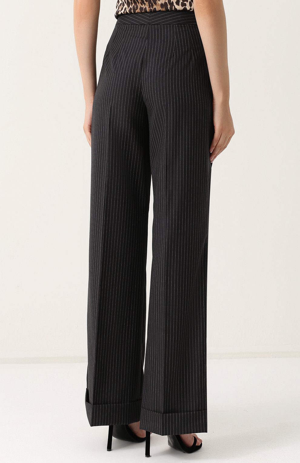 Расклешенные брюки со стрелками и карманами Dolce & Gabbana серые   Фото №4