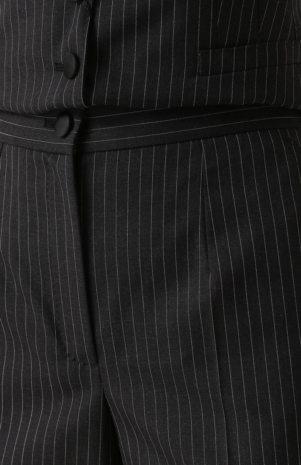 Расклешенные брюки со стрелками и карманами Dolce & Gabbana серые   Фото №5
