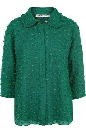 Шерстяная блуза с укороченным рукавом | Фото №1