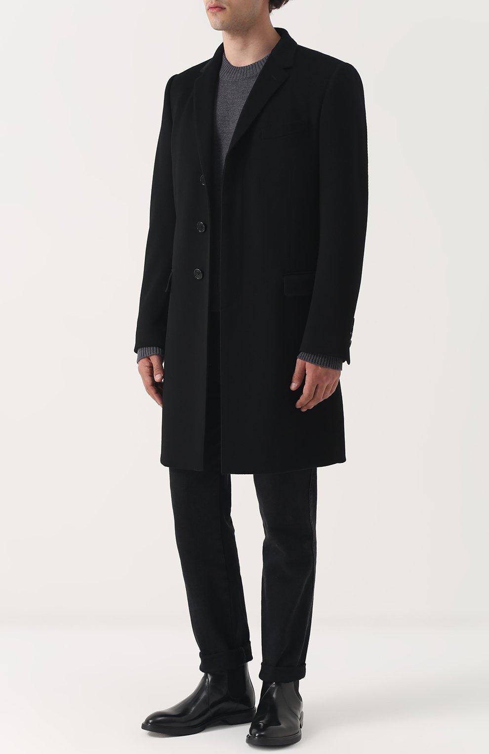 Шерстяной однотонный джемпер Dolce & Gabbana серый | Фото №2