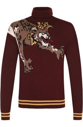 Шерстяной свитер с принтом | Фото №1