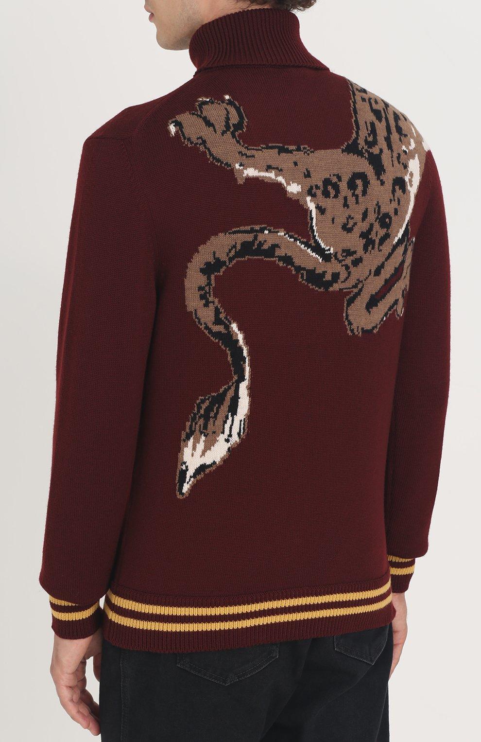Шерстяной свитер с принтом | Фото №4