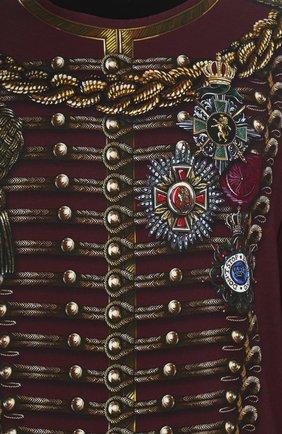 Хлопковый свитшот с принтом Dolce & Gabbana бордовый | Фото №5