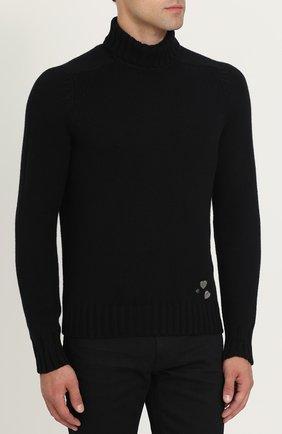 Кашемировый свитер с высоким воротником | Фото №3