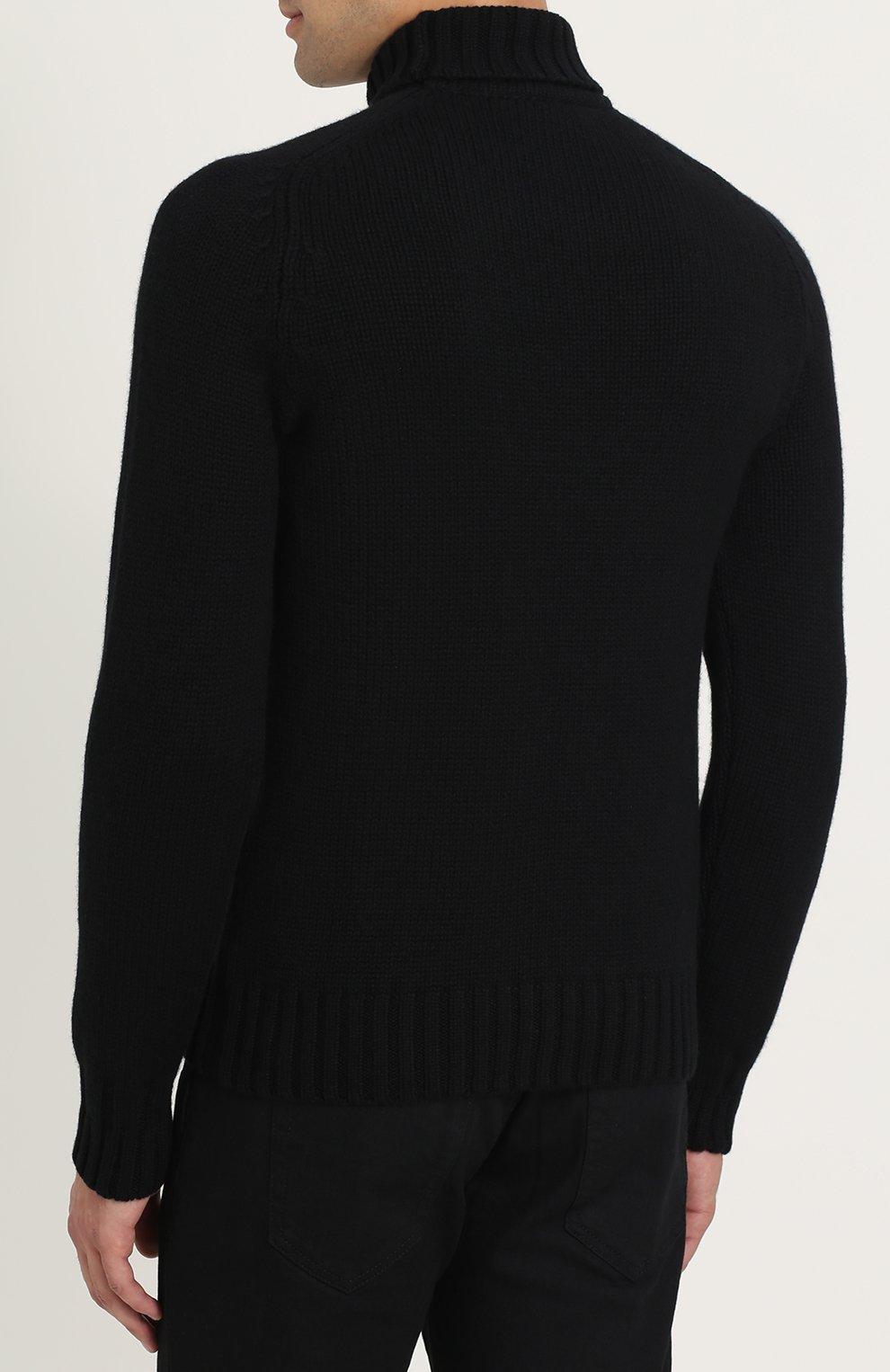Кашемировый свитер с высоким воротником | Фото №4