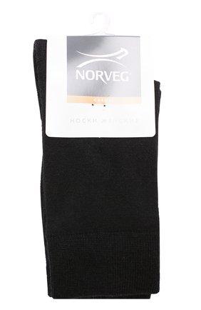 Женские шерстяные носки NORVEG черного цвета, арт. 9SMWRU | Фото 1