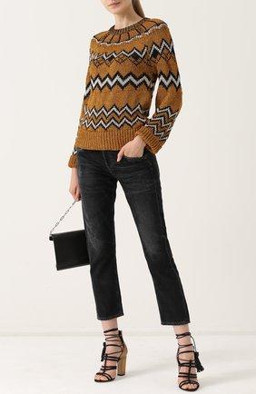Вязаный пуловер с круглым вырезом Nude разноцветный   Фото №1