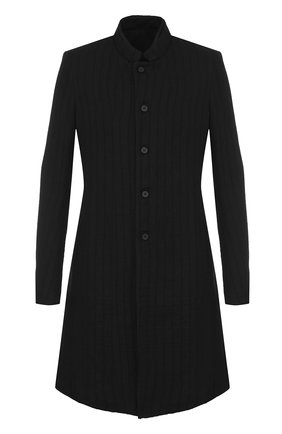 Однобортное пальто из смеси шерсти и льна   Фото №1
