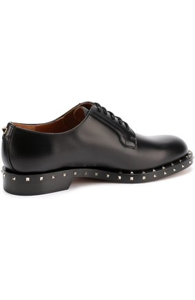 Кожаные дерби Valentino Garavani Soul Rockstud на шнуровке Valentino черные | Фото №4