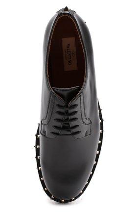 Кожаные дерби Valentino Garavani Soul Rockstud на шнуровке Valentino черные | Фото №5