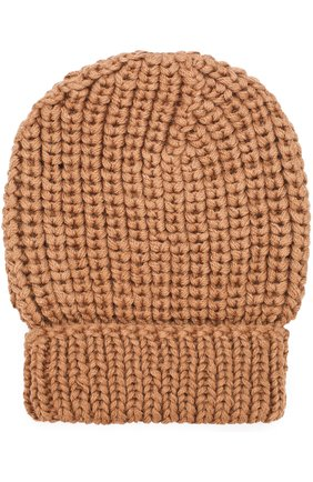 Шерстяная шапка фактурной вязки Karakoram accessories темно-бежевого цвета   Фото №1