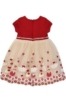 Многослойное платье с завышенной талией и вышивкой | Фото №2