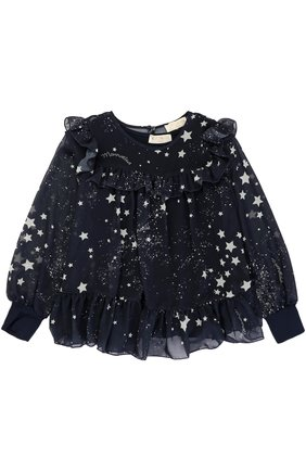 Блуза с оборками и принтом в виде звезд | Фото №1