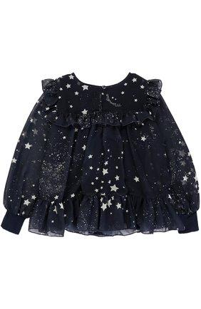 Блуза с оборками и принтом в виде звезд | Фото №2