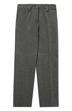 Детские классические брюки прямого кроя Dal Lago серого цвета | Фото №1