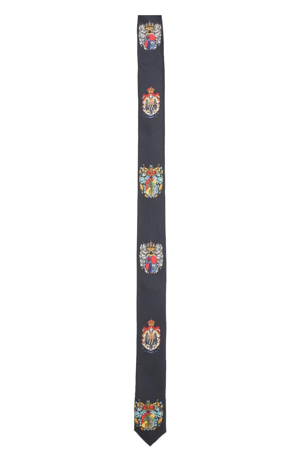 Шелковый галстук с принтом | Фото №1