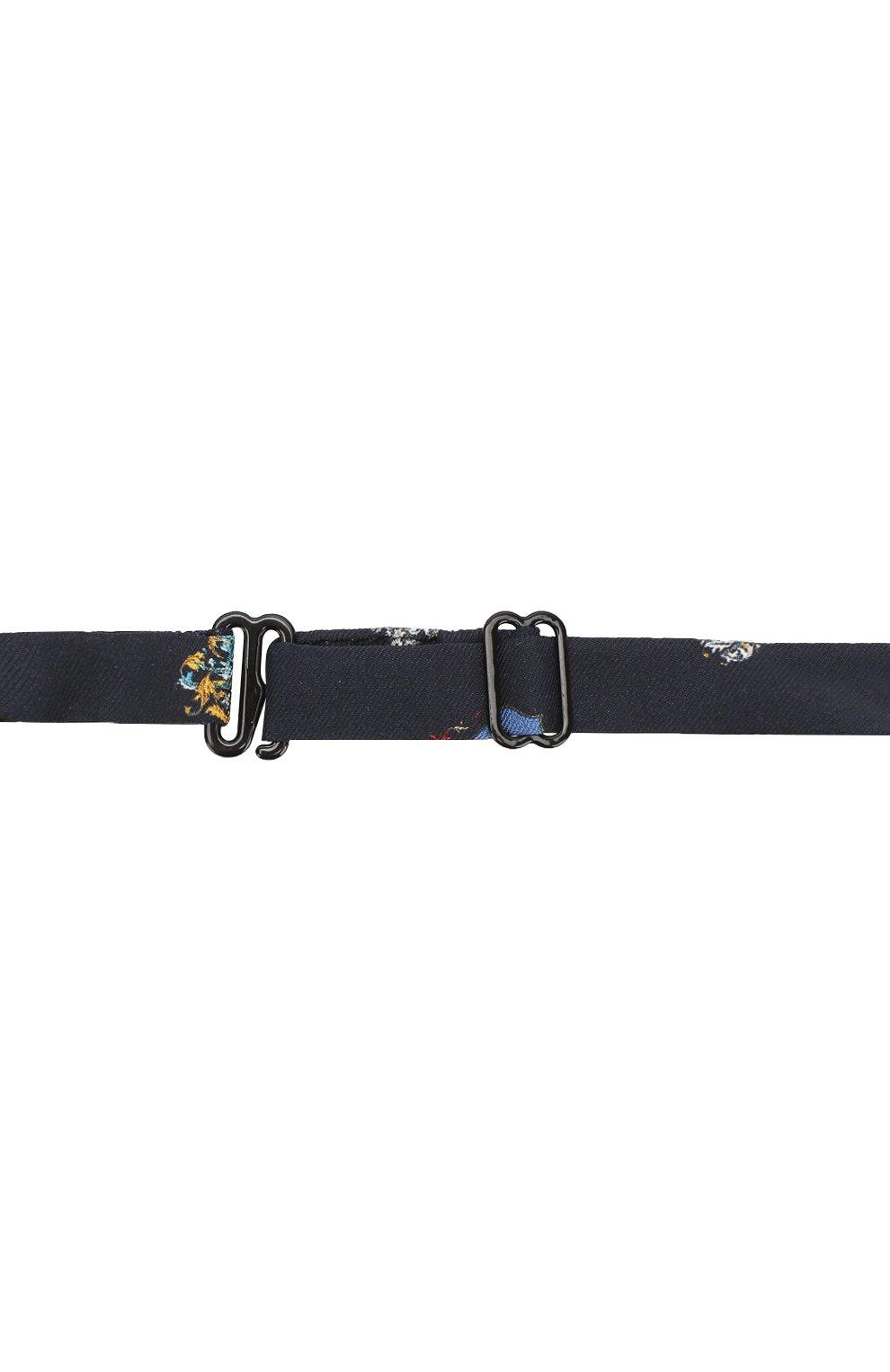 Шелковый галстук с принтом Dolce & Gabbana темно-синего цвета | Фото №2