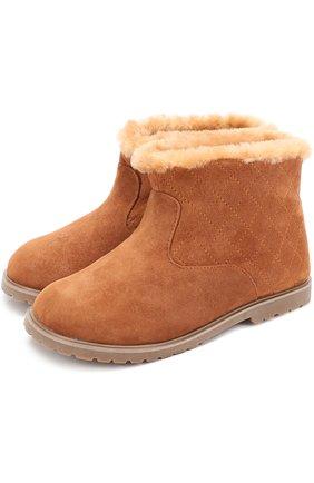 Замшевые ботинки с прострочкой   Фото №1